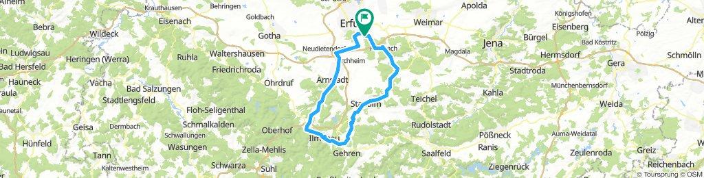 Solo-Ritt nach Ilmenau