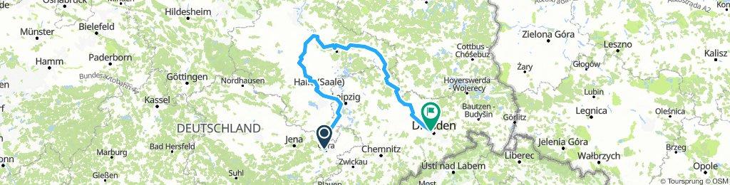 Gera, Halle, Barby, Dresden