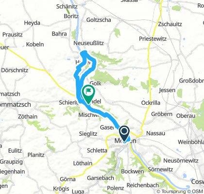 Von Meißen (linkselbisch) via Niederlommatzsch nach Zadel (rechtselbisch)