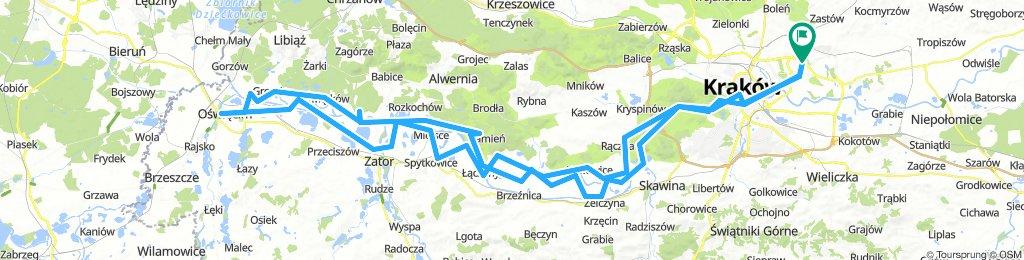 Kraków-Oświęcim (po obu stronach Wisły)
