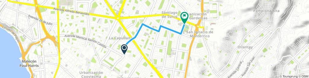 Ayacucho to Parque de la Amistad