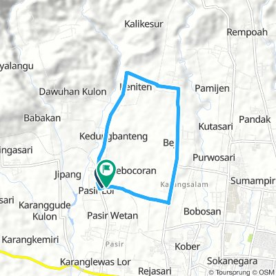 Pasir indah - Keniten - Karangnangka - Beji Karangsalam - finish di Pasir Indah