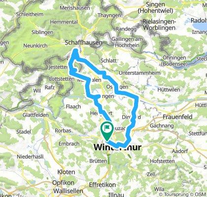 Winterthur - Ossingen - Cascate del Reno - Rheinau - Marthalen (Svizzera - Cantone Zurigo)