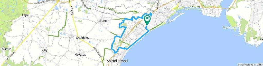 Ny cykelsti-Kalkgraven- 32 km