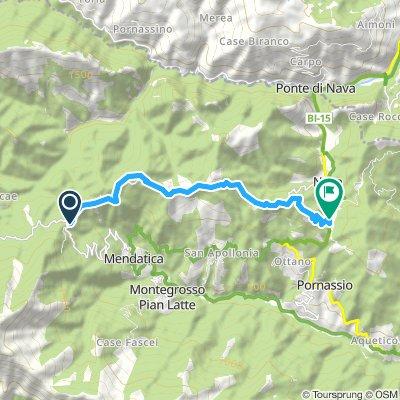 Alta via monti liguri trekking tappa 7