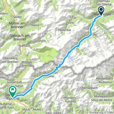 2. Etappe Mayrhofen - Sterzing