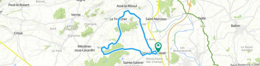 20 km près de Saint Jean d'asse
