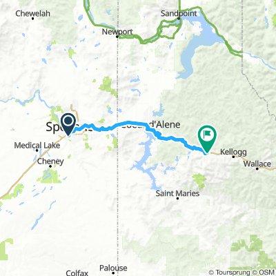 Spokane to Cataldo