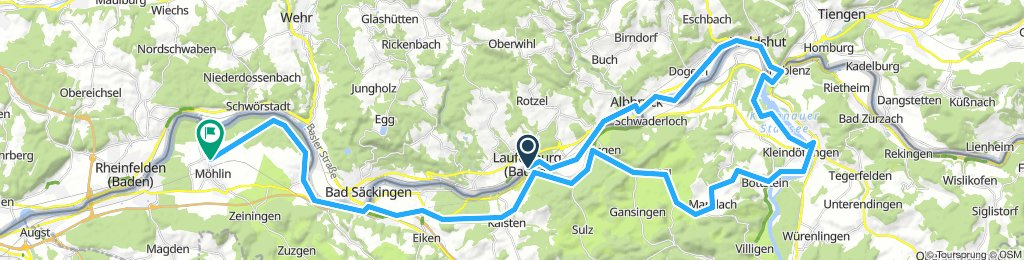 laufenburg - waldshut - mandach - möhlin