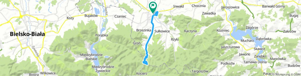 Easy Donnerstag Route from Andrychów to Kocierz