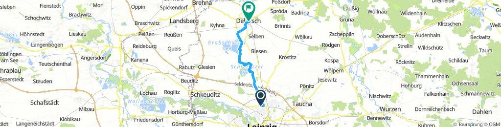 Von Leipzig nach Delitzsch