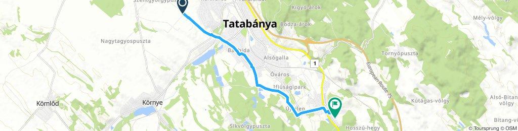 ride from Környe to Tatabánya