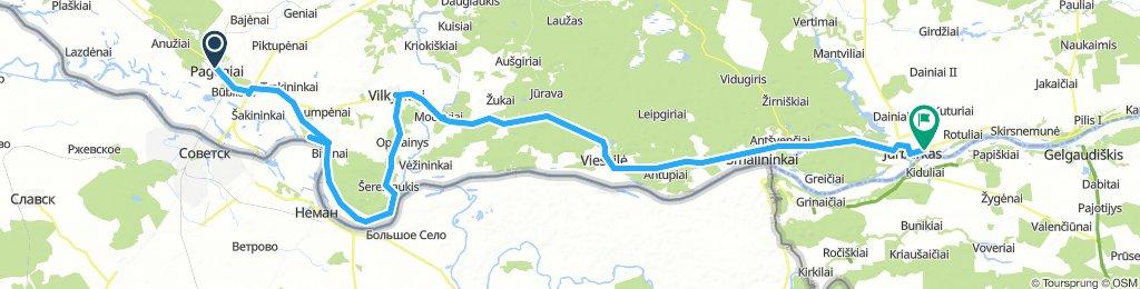 Von Pagegiai nach Jurbarkas