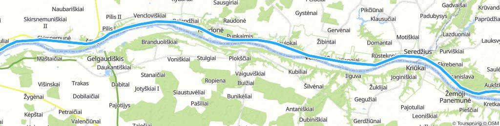 Von Jurbarkas nach Vilkija