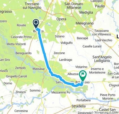 Binasco (MI) - Belgioioso (PV) . Ciclovia del Po . Stefi&Gia . Giorno 1
