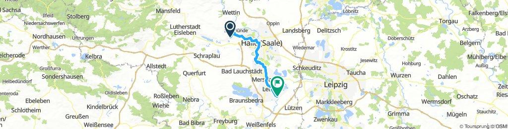 Saaletour, Zappendorf-Bad Dürrenberg