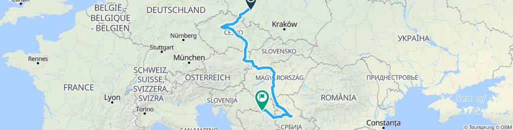 Wroclaw to Slabonski Brod 1592km 7 countries