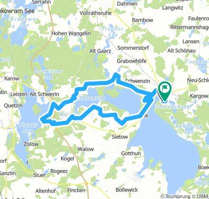 3) Tour bis Plauer See (bei trockenem Boden)