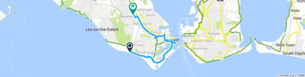 Slow Saturday Route In Gosport