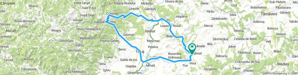 Petrisat-Ocnisoara-Aiud-Rameti-Teius