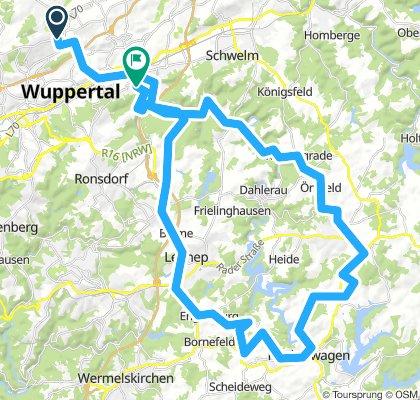 Wtal Hückeswagen Rade Barmen 70 km
