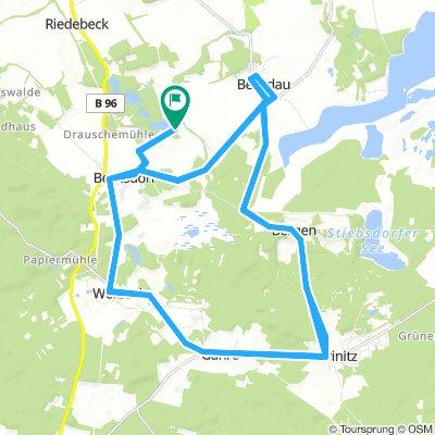 Bornsdorf-Triathlon Radstrecke 2018