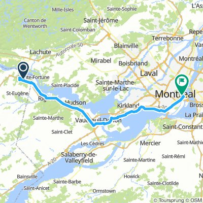 8of12 QC - 2a East Hawkesbury, ON to Montréal, QC (HI Montreal Hostel) 91km