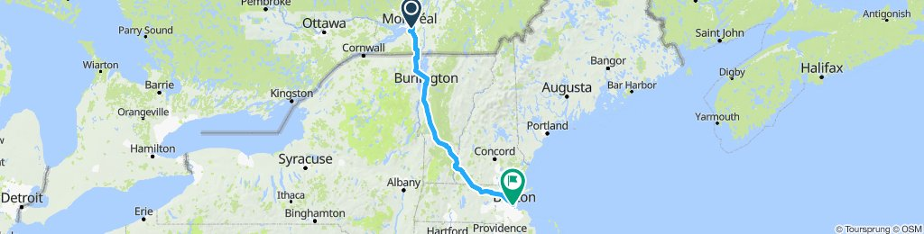 Montreal - Boston (via Middlebury)