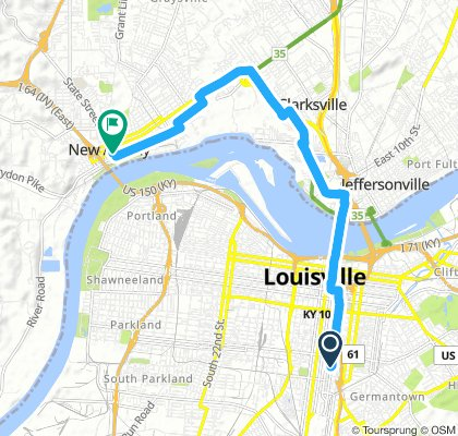 Spred Out Early Morning Route In Louisville