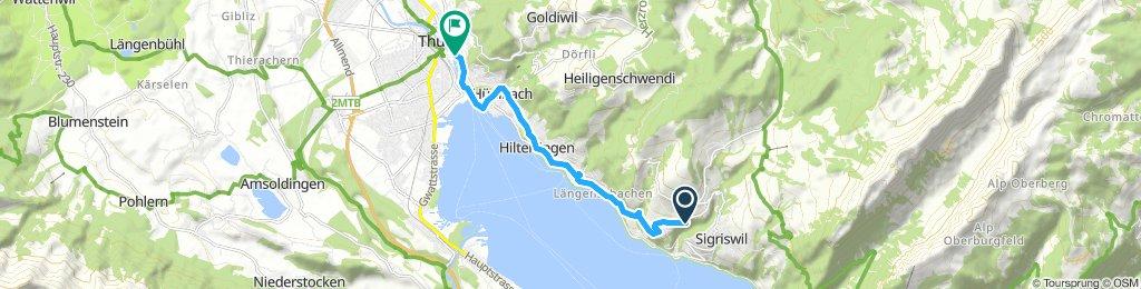 nach Sigriswil über Panoramabrücke