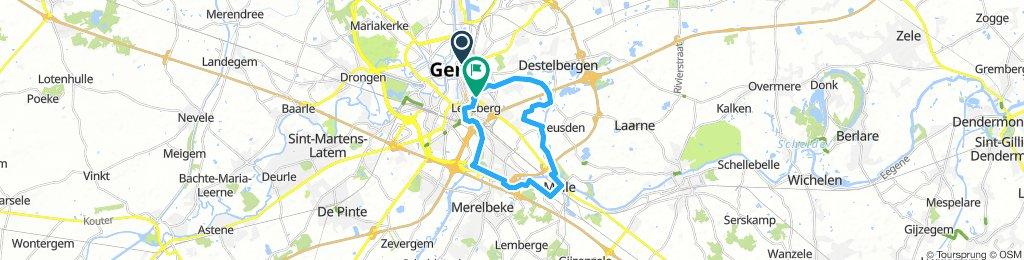 Route 5 - 23KM - melle/ledeberg
