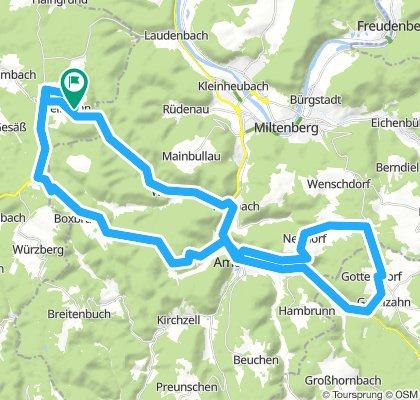 Vielbrunn - Boxbrunn Amorbach - Neudorf - Geisenhof - Schneeberg - Weilbach - Ohrnbachtal