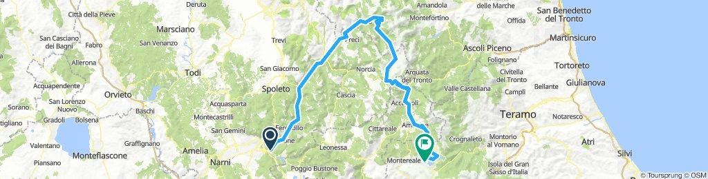 Terni-Campotosto (mit allen Campings)