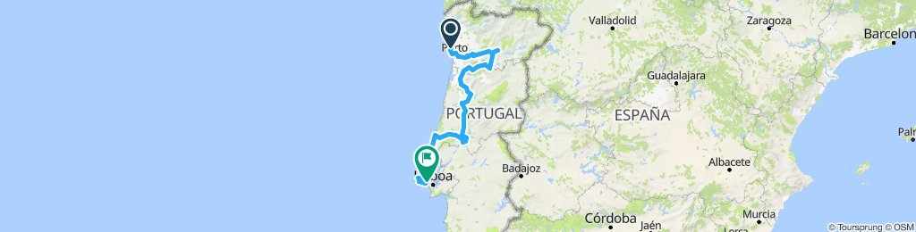 Porto - River Douro - Lissabon
