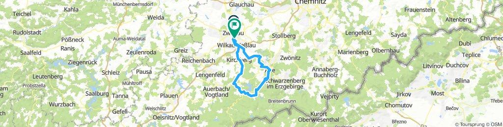 Zwickau- Eibenstock-Aue-Zwickau