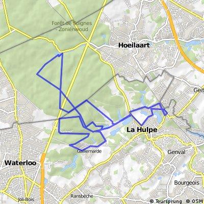 mountainbike route La Hulpe - Groenendaal