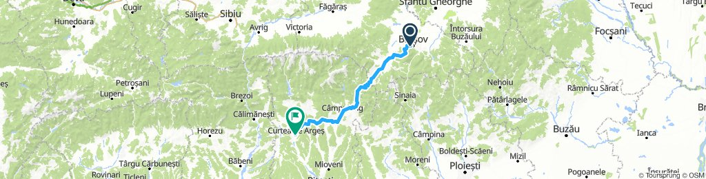 Romania-Brasov to Curtea de Arges