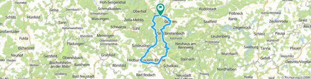 2018-07-29: Werra-Quelle-Radtour