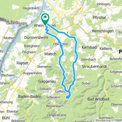 MTB-Tour: Von Rheinstetten über den Bernstein an die Teufelsmühle