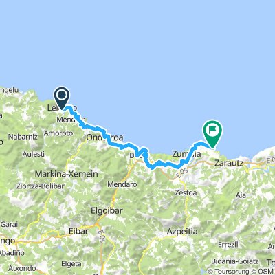 Cycling Routes And Bike Maps In And Around Getaria Bikemap
