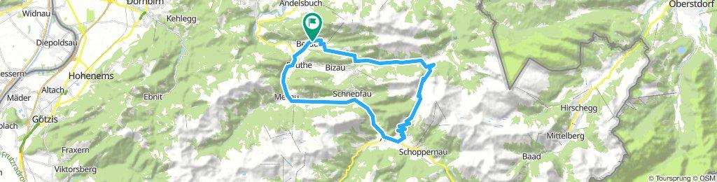 Betzau - Ostergunten - Au - Bezau