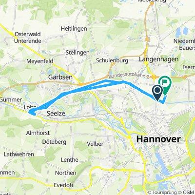 Vahrenheide,  Mittellandkanal,  Seelze und zurück
