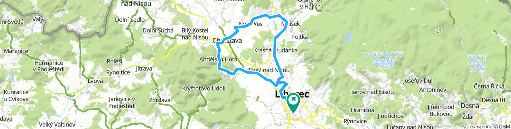 Rochlice - Chrastava - Studánka - Rochlice