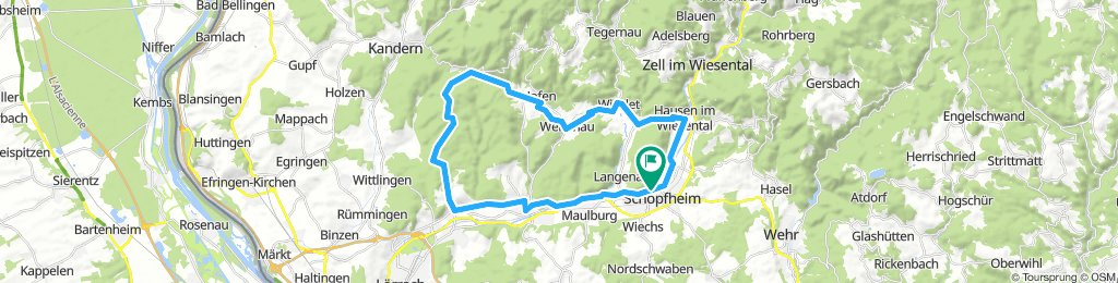 Schopfheim - Schlächtenhaus - Hauingen - Schopfheim