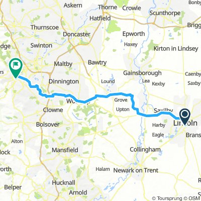 Lincoln to Sheffield