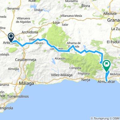 Antequera - nach Almunecar