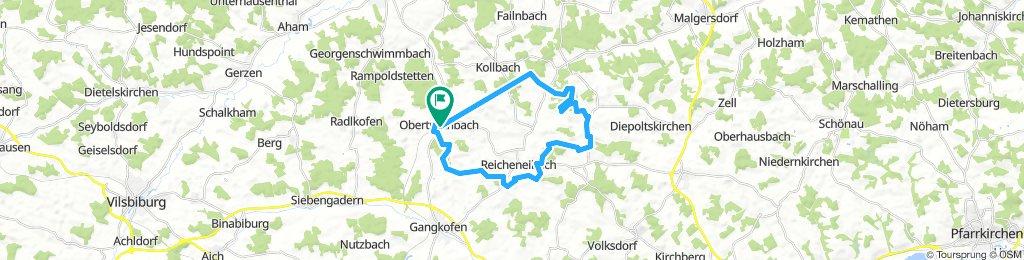 mtb runde obertrennbach-Reicheneibach-Rattenbach-Kollbach