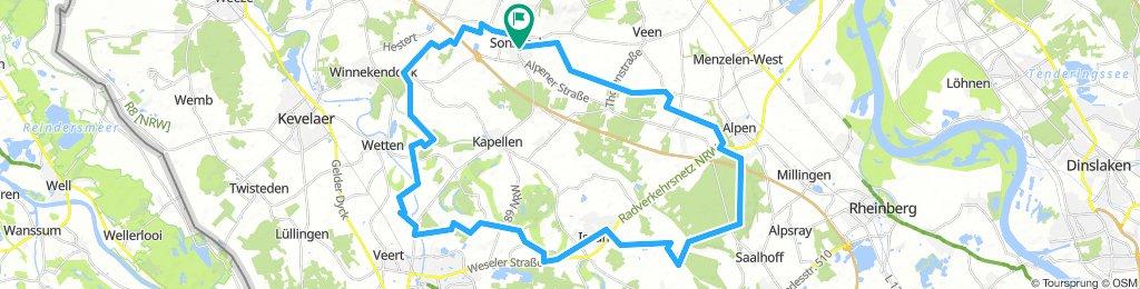 Sonsbeck-Alpen-Issum-Sonsbeck