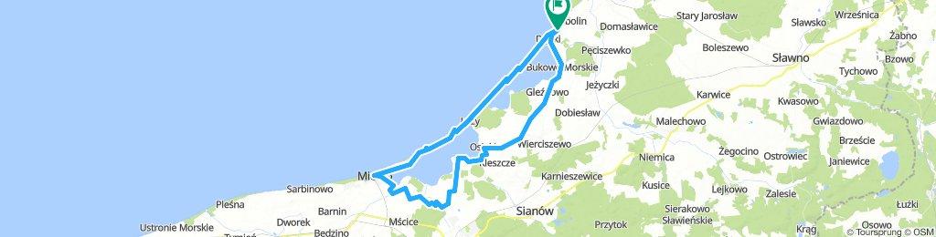 Dąbki - Mielno (2 jeziora)
