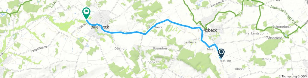 Moderate Samstag Route In Havixbeck